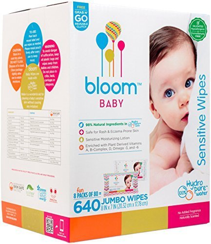 bloom BABY Sensitive Skin Unscented Hypoallergenic Baby Wipes reviews